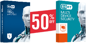 ESET 50 percent off
